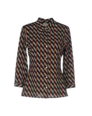 Pубашка SIYU. Цвет: ржаво-коричневый