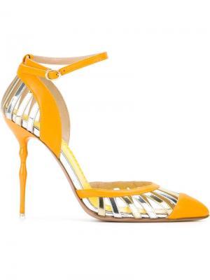 Туфли с ремешком на щиколотке Francesca Mambrini. Цвет: жёлтый и оранжевый