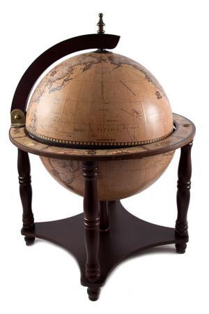Глобус-бар 40х40х57см Русские подарки. Цвет: коричневый