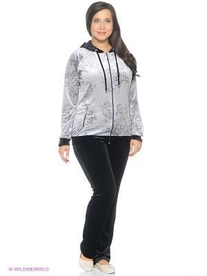 Спортивный костюм EZE. Цвет: светло-серый, черный