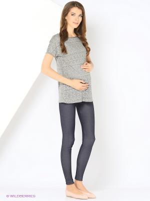 Футболка для беременных 40 недель. Цвет: серый