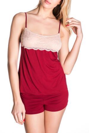 Шорты Rose&Petal Homewear. Цвет: красный