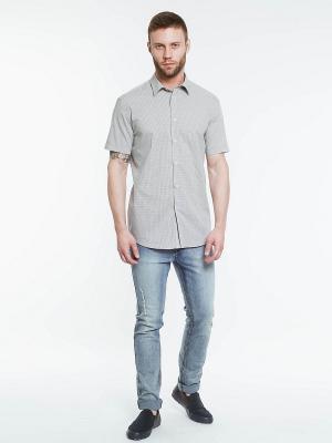 Рубашка INCITY. Цвет: белый, бежевый