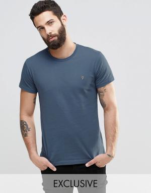 Farah Синяя футболка слим с логотипом F. Цвет: синий