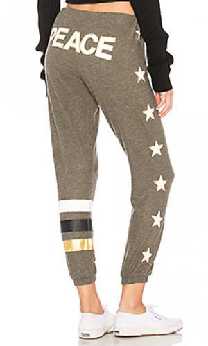 Спортивные брюки peace star Chaser. Цвет: оливковый