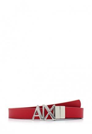 Ремень Armani Exchange. Цвет: красный