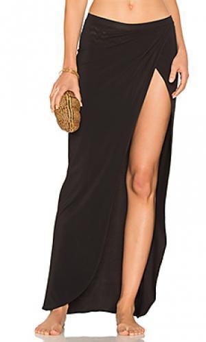 Draped wrap skirt Sauvage. Цвет: черный
