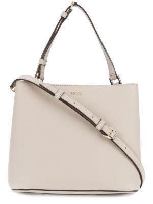 Классическая сумка-тоут Donna Karan. Цвет: телесный