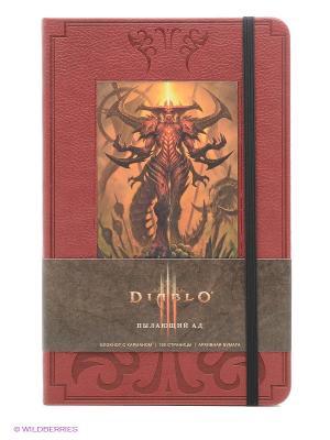 Блокнот Диабло Эксмо. Цвет: бордовый