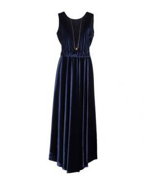Длинное платье SOUVENIR. Цвет: темно-синий