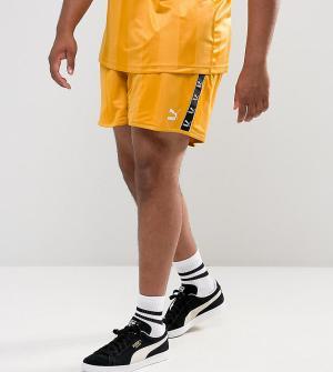 Puma Желтые шорты в стиле ретро PLUS эксклюзивно для ASOS 57658001. Цвет: желтый