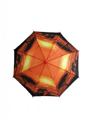 Зонт NeKi. Цвет: коричневый,серебристый,оранжевый