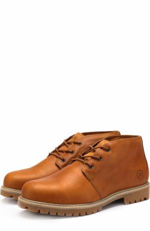 Кожаные ботинки Tibet на шнуровке Affex. Цвет: коричневый