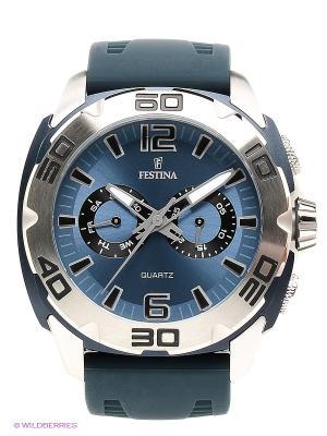 Часы Festina. Цвет: серебристый, синий