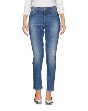 Джинсовые брюки MONOCROM. Цвет: синий
