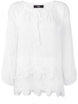 Блузка с волнистым подолом Steffen Schraut. Цвет: белый