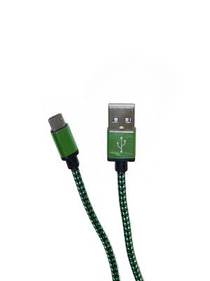 Usb кабель Pro Legend micro Usb, текстиль, зеленый, 1м. Цвет: зеленый