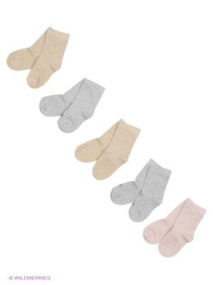 Носки United Colors of Benetton. Цвет: кремовый, серый, розовый