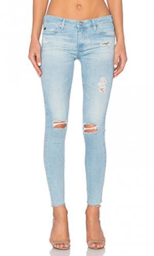 Укороченные джинсы legging ankle AG Adriano Goldschmied. Цвет: none