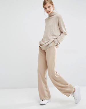 Paisie Широкие брюки с завышенной талией. Цвет: рыжий