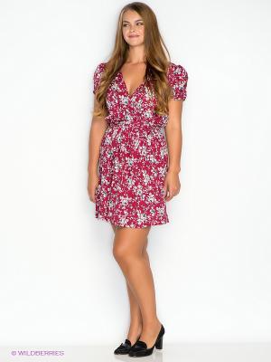 Платье New Look. Цвет: бордовый, белый