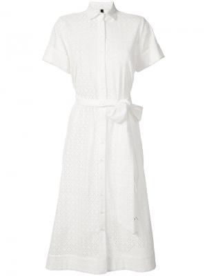 Платье-рубашка с поясом Lisa Marie Fernandez. Цвет: белый