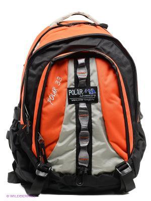 Рюкзак Polar. Цвет: оранжевый, черный