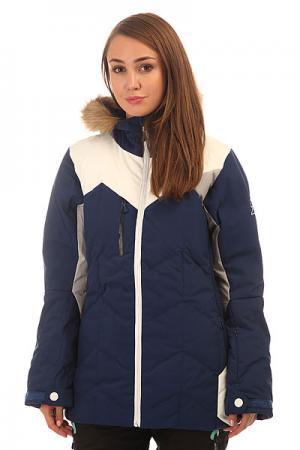 Куртка утепленная женская  Fly Friends Dark Blue Picture Organic. Цвет: синий