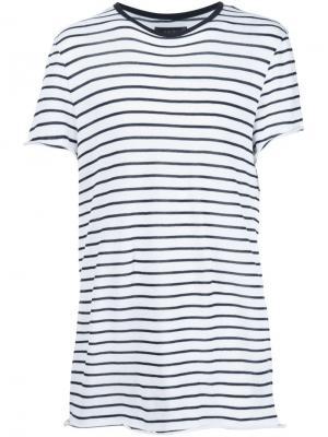 Полосатая футболка Amiri. Цвет: белый