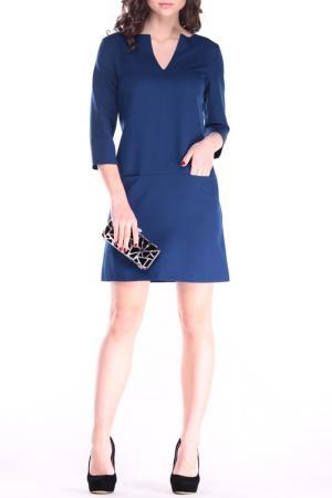 Платье Laura Bettini. Цвет: синий