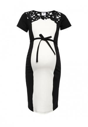Платье Mamalicious. Цвет: черно-белый