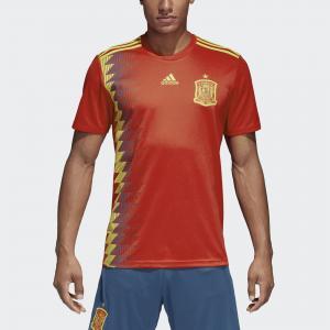 Домашняя игровая футболка сборной Испании  Performance adidas. Цвет: красный