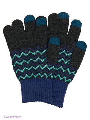 Перчатки для сенсорных экранов TERRITORY. Цвет: серый, синий