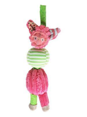 Игрушка Deglingos Свинка Jambonos - Подвес-погремушка. Цвет: розовый
