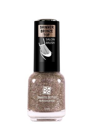 Топовое покрытие для ногтей SHIMMER BRONZE TOP , 12 мл Brigitte Bottier. Цвет: оранжевый