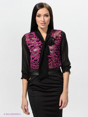 Блузка TOPSANDTOPS. Цвет: черный, сиреневый