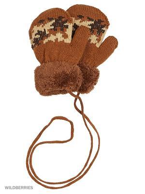 Варежки Mini. Цвет: коричневый