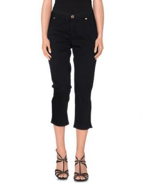 Джинсовые брюки-капри GLAM CRISTINAEFFE. Цвет: черный