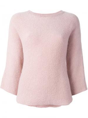 Джемпер с рукавами три четверти Masscob. Цвет: розовый и фиолетовый