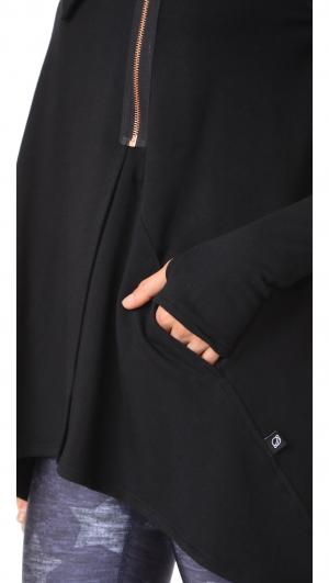 Black Zip Drape Jacket Terez