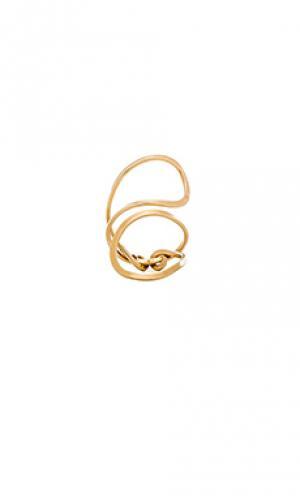 Кольцо betty Mimi & Lu. Цвет: металлический золотой