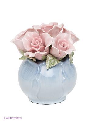 Композиция Розы Pavone. Цвет: голубой, розовый