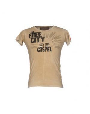 Футболка FREE CITY. Цвет: песочный