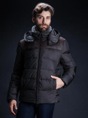 Зимняя куртка Clasna. Цвет: коричневый