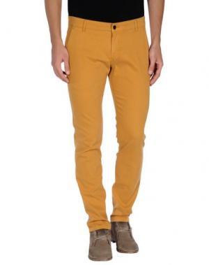 Повседневные брюки ENTRE AMIS. Цвет: охра