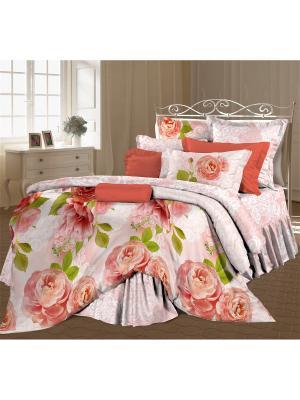 Комплект постельного белья 2,0 бязь Садовый цвет Любимый Дом. Цвет: коричневый, белый