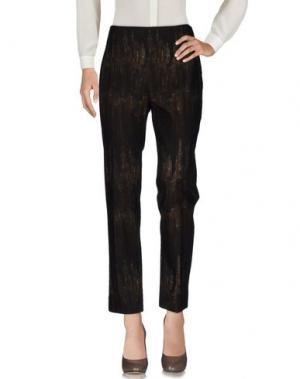Повседневные брюки CIVIDINI. Цвет: темно-коричневый