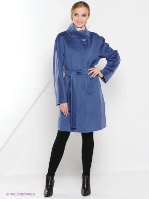 Пальто Estrade. Цвет: голубой