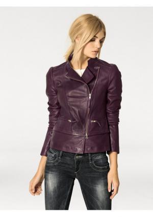 Кожаная куртка Rick Cardona. Цвет: ягодный