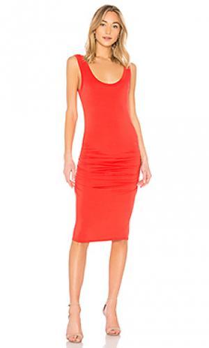 Платье frankie LA Made. Цвет: красный